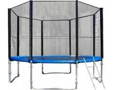Fitness Trampoline 12 FT Extreme с сеткой и лестницей