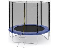 Fitness Trampoline 8 FT Standart с сеткой и лестницей