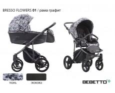 BEBETTO BRESSO FLOWER 2020 3 в 1 ЭКОКОЖА+ТКАНЬ
